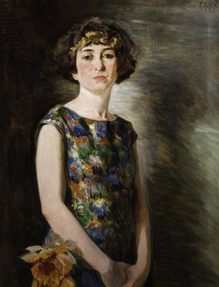 Portrait of a young woman in 1924